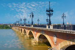 Bordeaux in a summer day. Cityscape of Bordeaux in a summer day royalty free stock photography