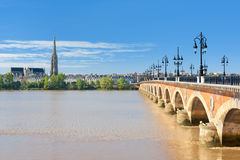 Bordeaux at a sunny day. View of Bordeaux at a sunny summer day royalty free stock image