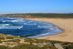 Bordeira strand, Vicentine kust, Portugal Royaltyfria Bilder