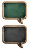 Borden of borden in vorm van toespraakbel die worden geplaatst Stock Afbeeldingen