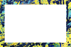 Border. Colorful border of abstract paint pattern stock illustration