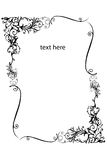 Border. An Illustration of a Floral Border Silhouetted on White Background Royalty Free Stock Photography