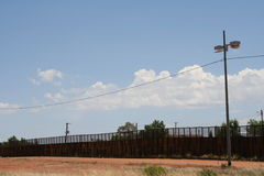 Border. Picture of the border fence which stretches between U.S. and Mexico Royalty Free Stock Photography