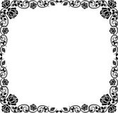 Border. Silhouette border with rose decoration Stock Photos