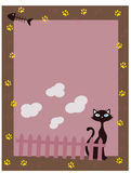 Border 5. An illustration of cat border Royalty Free Stock Images