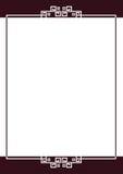 Border. Illustration of rectangle type border Stock Photos