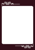 Border. Illustration of rectangle type border Royalty Free Stock Images