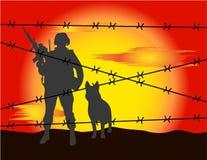On border Stock Image