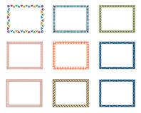 Border. Different types of border designs Stock Photo
