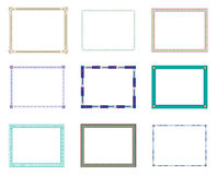 Border. Different types of border designs Royalty Free Stock Photos