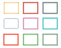 Border. Different types of border designs Stock Images