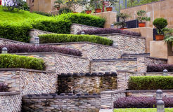 Border. In Shitai's garden, rich stereoscopic effect Stock Photography