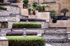 Border. In Shitai's garden, rich stereoscopic effect Stock Photos