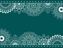 Border with abstract flowers royalty free illustration