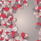 Border with abstract hand-drawn floral pattern Royalty Free Stock Image