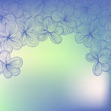 Border with abstract hand-drawn floral pattern Royalty Free Stock Photo