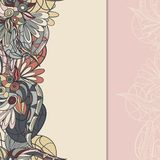 Border with abstract hand-drawn pattern Royalty Free Stock Photography