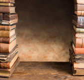 Border with antique books Stock Image