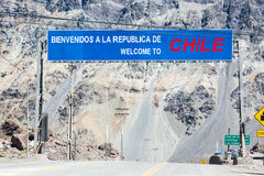 Border Argentina Chile Andes Royalty Free Stock Images
