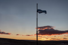 Border between Argentina and Chile. At Paso Rio Don Guillermo, Argentina stock photo