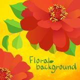 Border background with flowers Royalty Free Stock Photography