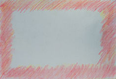 Border background made from pencil color Stock Photography