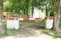 Border barrier in military museum near Pohansko, Czech republic Stock Photo