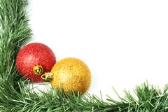 Border with bauble Royalty Free Stock Image