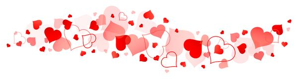 Border Of Big And Little Red Hearts stock illustration