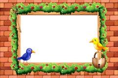 Border and birds Stock Photo