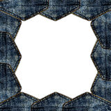 Border blue jeans pocket isolated Stock Photos