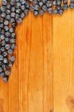 Border of blueberries Stock Photos