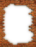 Border of Bricks Royalty Free Stock Photos