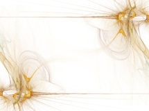 Border/Business Graphic - Golden Smoke Royalty Free Stock Images