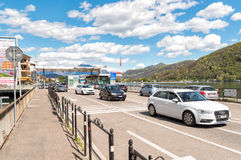 Border Checkpoint between Italy and Switzerland. Royalty Free Stock Image