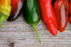 Border of Chili Peppers Royalty Free Stock Photo