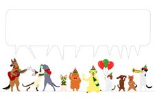 Border of christmas animals Stock Image