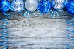 Border of Christmas Balls Royalty Free Stock Photos