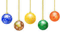 Border from Christmas balls Stock Photography