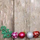 Border from Christmas decorations Royalty Free Stock Photo