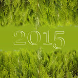 Border Christmas Fir Tree. Christmas background. Christmas green framework. 2015 Stock Image