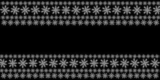 Border Christmas snowflake black background snow falling snow holiday atmosphere. Copy space stock photography
