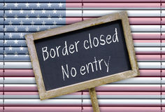 Border closed - no entry. United States Border closed - no entry royalty free stock image