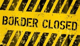 Border closed sign Royalty Free Stock Photo