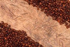 Border of coffee beans Stock Image