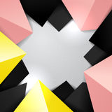 Border colorful triangle background Stock Photos