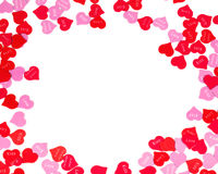 Border of colorful Valentines Day paper hearts Royalty Free Stock Image