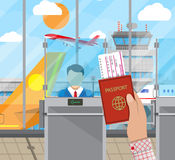 Border control concept, immigration officer Royalty Free Stock Photo