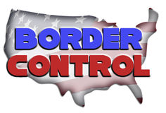 Border Control Illustration Stock Image