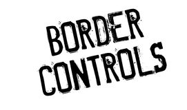 Border Controls rubber stamp Royalty Free Stock Image